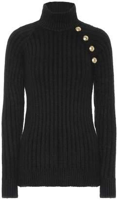 Balmain Embellished turtleneck sweater