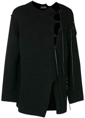 Yohji Yamamoto cut out knit sweater