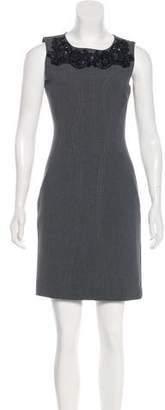 Diane von Furstenberg Embellished Sleeveless Dress