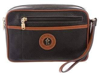 a. testoni a.testoni Grain Leather Logo Pouch