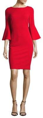 Bell-Sleeve Sheath Dress $134 thestylecure.com