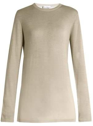 Raey Long Line Fine Knit Cashmere Sweater - Womens - Grey
