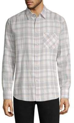 Rag & Bone Crinkle Plaid Button-Down