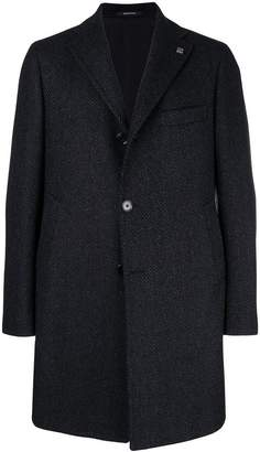 Tagliatore patterned single breasted coat