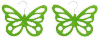 Laundry by Shelli Segal Home Basics 2-Pack Butterfly Scarf Hanger, Green