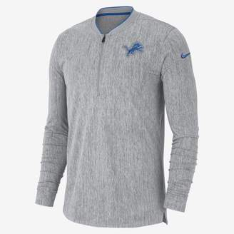 Nike Coach (NFL Lions) Men's Half-Zip Long Sleeve Top