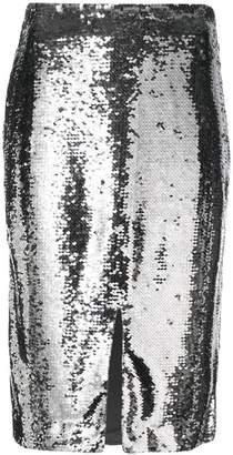 Ganni sequined pencil skirt