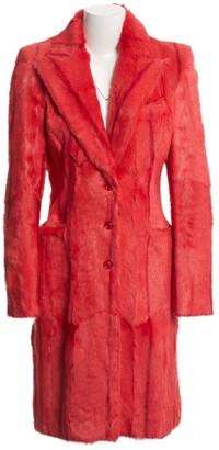 Versus Red Fur Coat for Women