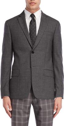 John Varvatos Black & Grey Melange Sport Coat