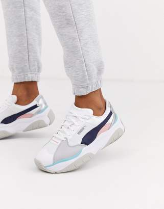 Puma STORM.Y metallic trainers