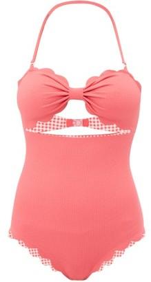 Marysia Swim Antibes Scalloped Edge Swimsuit - Womens - Pink