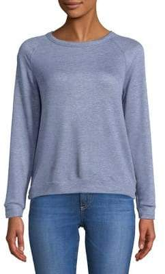 Project Social T Textured Crewneck Cut-Out Pullover