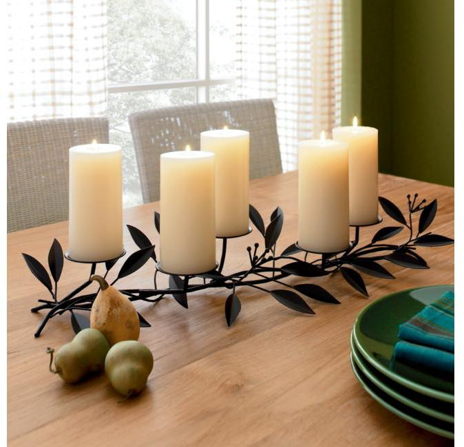 Rustic Leaf Candleholder
