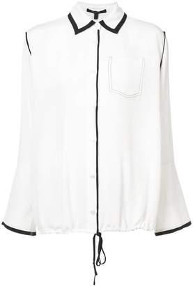 Derek Lam Long Sleeve Button-Down Shirt With Drawstring Hem