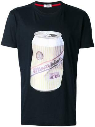 Moschino beer can print T-shirt