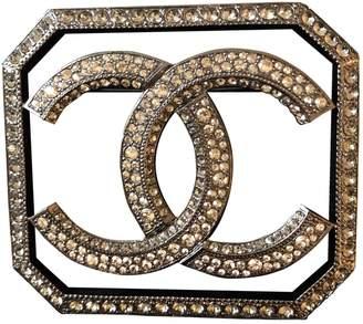 Chanel Grey Metal Pins & brooches
