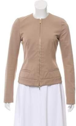 Plein Sud Jeans Collarless Zip-Up Jacket