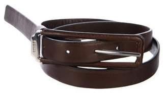 Prada Leather Narrow Belt