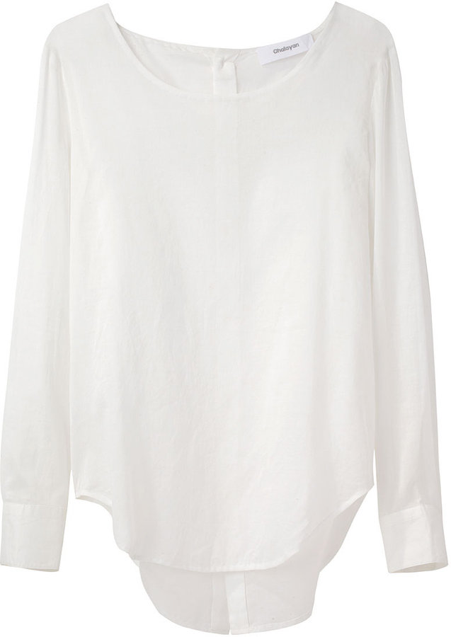 Chalayan / Sheer Button Back Blouse