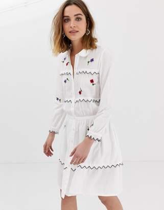 Leon And Harper & Harper embroidered shirt dress