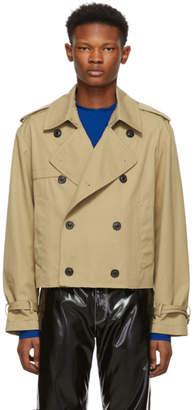 Maison Margiela Beige Cropped Trench Jacket