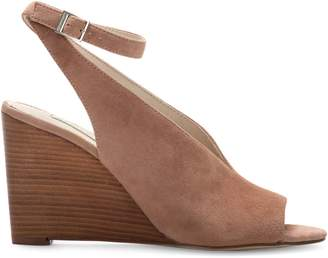 Louise et Cie Piarissa Ankle-Strap Wedge Suede Sandals