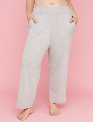 Ribbed-Waist Jersey Sleep Pant