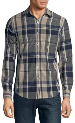 Dockers Premium Edition Plaid Slim-Fit Button-Down Shirt