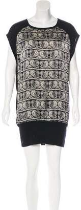 Pierre Balmain Knit Silk-Paneled Dress