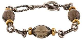 David Yurman Smoky Quartz Figaro Bracelet