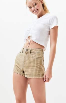 PacSun Khaki Salem Denim Mom Shorts