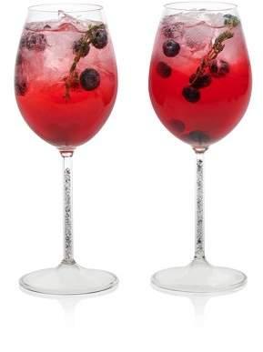 Libbey Glint Silver Stem Wine Glasses, Set of 2