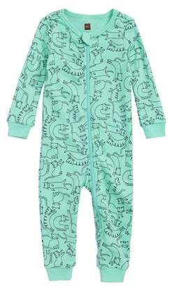 Tea Collection Printed Fitted One-Piece Pajamas