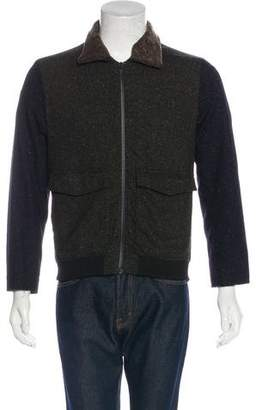 Timo Weiland Shearling-Trimmed Speckled Jacket