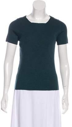 Akris Punto Rib Short Sleeves Top