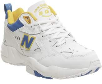 New Balance 608 Trainers White Blue Yellow