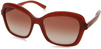DKNY Women's Injected Woman Rectangular Sunglasses