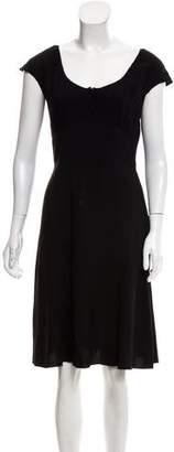 Prada Scoop Neck Knee-Length Dress