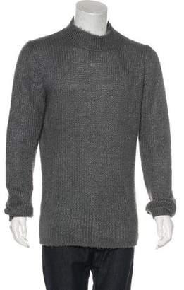 Rick Owens Silk Mock Neck Sweater