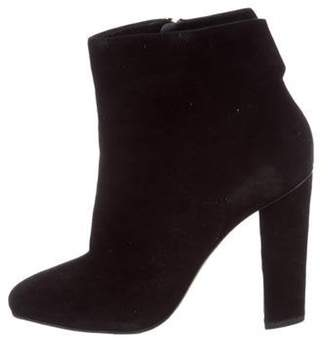 Giuseppe Zanotti Suede Round-Toe Ankle Boots Black Suede Round-Toe Ankle Boots