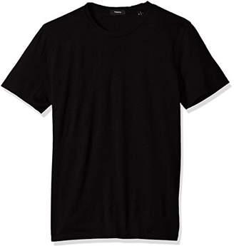 Theory Men's Claey Plaito Dressy Crew Neck T-Shirt