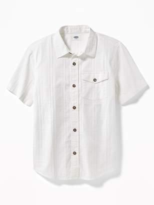 Old Navy Textured Dobby Shirt for Boys