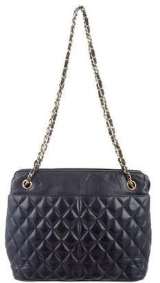Chanel Lambskin Shoulder Tote