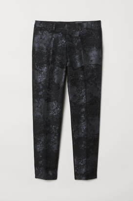 H&M Slim Fit Suit Pants - Black