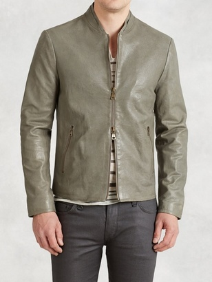 Baseball Inspired Leather Jacket $1,998 thestylecure.com