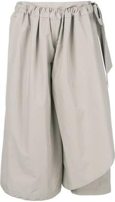 Chalayan cropped flared trousers