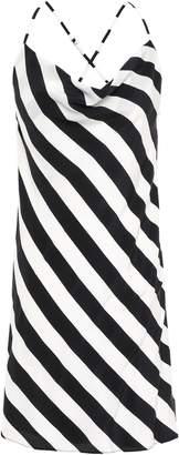 Mason by Michelle Mason Open-back Striped Silk Crepe De Chine Mini Dress