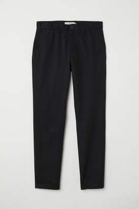 H&M Cotton Chinos Slim fit - Black