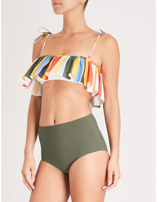 Tie-dye Balloon Flounce bikini top
