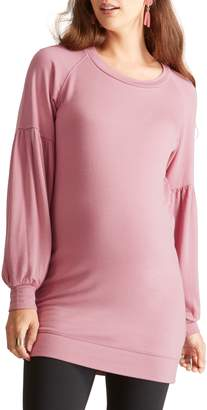 Ingrid & Isabel R) Cozy Puff Sleeve Maternity Tunic